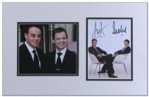 Ant & Dec Autograph Display - Anthony McPartlin & Declan Donnelly